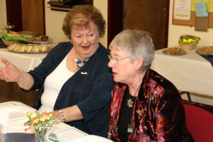 President Barbara Clark with Federation Chairman Wendy Adams